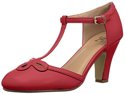Brinley Co Women's Patsie Pump Red 8zRoB5vgK