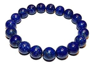 8mm Lapis Lazuli Bracelet 01 Natural Third Eye Crown Chakras Healing (Gift Box) (6.25 Inches)