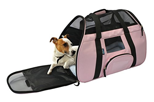 KritterWorld-Portable-Comfort-Soft-Sided-Airline-Approved-Pet-Travel-Carrier-Bag-for-DogCat-Small-Animals-Tote-w-Built-in-Collar-Buckle-Removable-Fleece-Bed