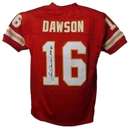 Len Dawson Autographed Signed Kansas City Chiefs Red XL Jersey HOF ... 576fb29e8