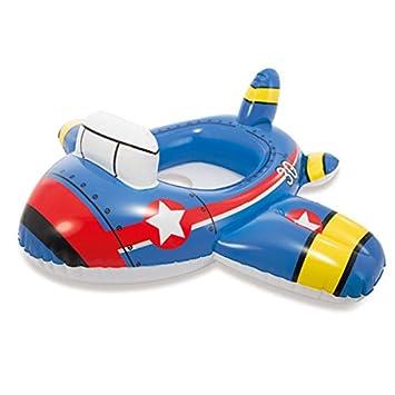 Queta Asiento hinchable para bebé, flotador hinchable, barco de natación para niños de 2 a 8 años, azul: Amazon.es: Deportes y aire libre