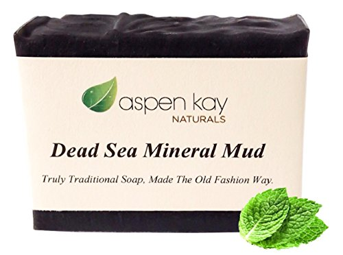 Dead Sea Mud Soap Bar 100% Organic  Natural. With Activated Charcoal  Therapeutic Grade Essential Oils. Face Soap or Body Soap. For Men, Women  Tee…