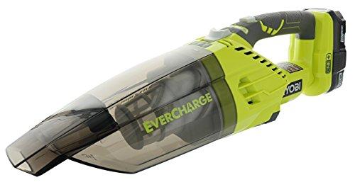 Ryobi P714K 18 Volt Lithium Cordless Hand Vacuum Kit Green