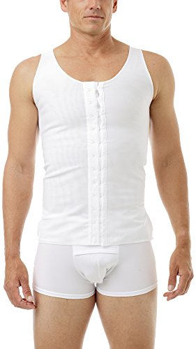 Underworks Mens Extreme Gynecomastia Chest Binder Vest Large White