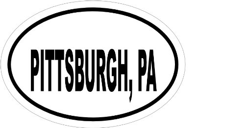 Pittsburgh Pa, Vinyl Car Decal, 'White', '15-by-15 (W15 Pa)