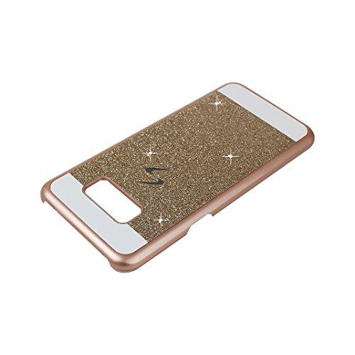 3PCS Galaxy S8 Plus Cáscara, Galaxy S8 Plus Funda Protectora, Moon mood® Duro PC Bling Cristal Glittar Caso Trasero Cubierta Teléfono Concha Estuche Back Case Cover Phone Shell Bumper Protección Piel  2PCS-3