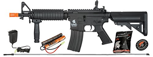 Aeg Metal - UKARMS Lancer Tactical MK18 MOD 0 AEG Field Metal Gears Airsoft Gun Rifle w 9.6v Battery & Charger (Black High Velocity)