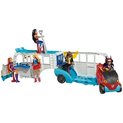 DC Super Hero Girls School Bus Vehicle: Toys & Games