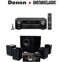 Denon AV Component Receiver (AVRS740H) + Energy 5.1 Take Classic Home Entertainment System (Set of Six, Black) Bundle