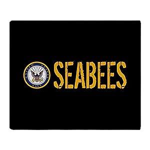 CafePress U.S. Navy: Seabees (Black) Throw Blanket from CafePress