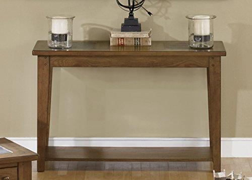 "Liberty Furniture INDUSTRIES 382-OT1030 Hearthstone Sofa Table, 48"" x 18"" x 30"", Rustic Oak"
