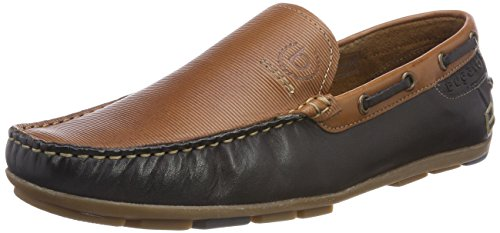 Bugatti Men's 311262611010 Moccasins, Cognac/Dark Blue Brown (Cognac 6341)