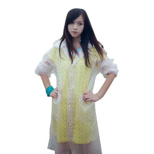 YiTao Lovely Lady Girl Woman Hooded Raincoat Pvc Waterproof
