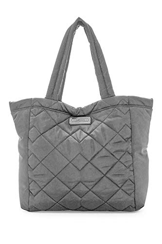Marc Jacobs Large Quilted Nylon Tote (Dark Grey)