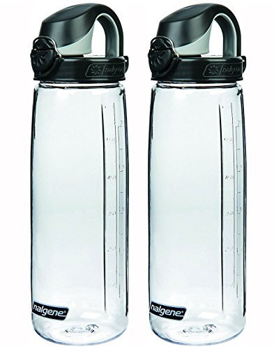 Nalgene Tritan On The Fly Water Bottle, CLEAR/BLACK Set of 2, 24Oz by Nalgene
