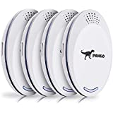 Ultrasonic Pest Repeller | Ultrasonic & Ultrasound Pest Repellent - Pest Reject - Set of 4 Electronic Pest Control - Plug in Home Indoor Repeller - Get Rid of Mosquitos, Insects, Rodents, Ants, Rats