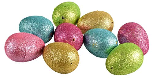 Glitter Hollow Plastic Easter Eggs 10-ct. Packs