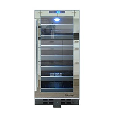 Vinotemp VT-32TSFE-SM 33-Bottle Touch Screen Mirrored Wine Cooler