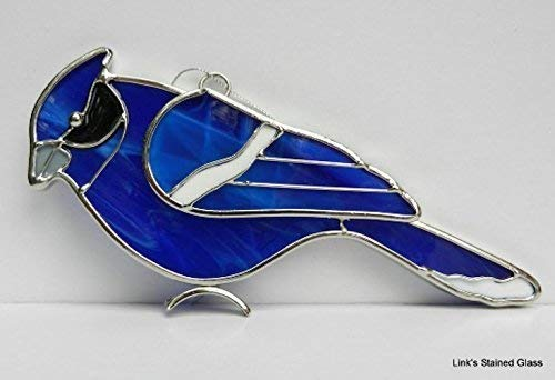 Stained Glass Blue Jay Sun Catcher ()