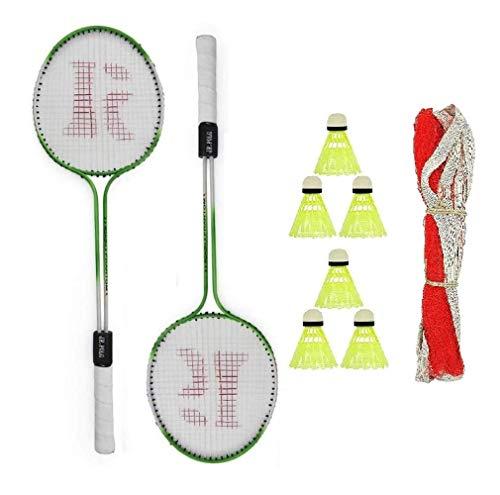ZORAX Badminton Racquets kit Pack of 2 Piece Racket, 1 net and 6 shuttlecocks