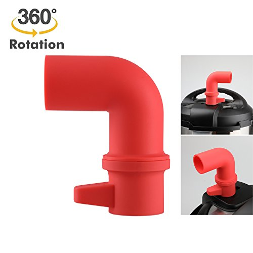 Cupboards/Cabinets Savior, Original Steam Release Accessory for Instant Pot or Pressure Cooker – 360° Rotating Design to Adjust Direction Freely, Red