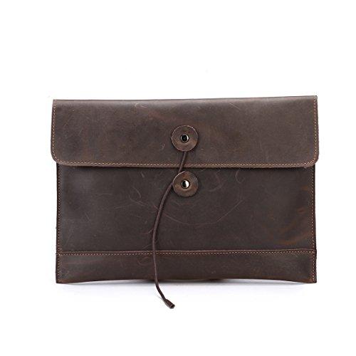 Itslife For Or Genuine Apple Clutch Men's Ipad Portfolio Envelope Leather Macbook Air Handbag rH0n6rcxg