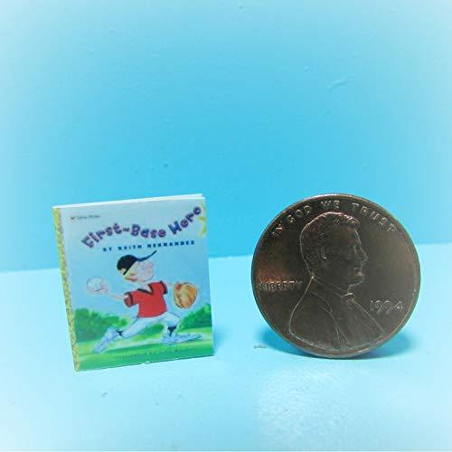 Dollhouse Replica Book Baseball First Base Hero KL0092 - Miniature Scene Supplies Your Fairy Garden - Doll House - Outdoor House Decor