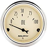 Auto Meter 1827 Antique Beige Oil Pressure Gauge