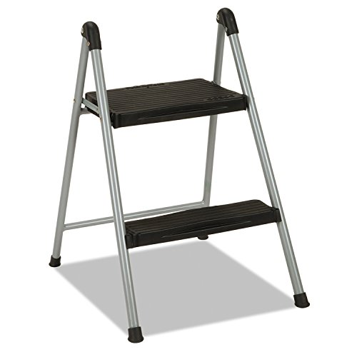 """Folding Step Stool, 2-Step, 200lb, 16 9/10"""" Working Height,"""