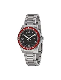 Longines Hydroconquest Black Dial Stainless Steel Mens Watch L36884596