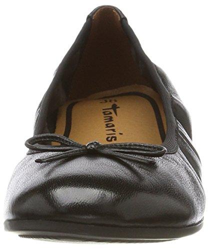 Tamaris 22116, Bailarinas para Mujer Negro (Black Leather)