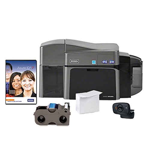 ID Card Maker - Fargo DTC1250e Dual-Side ID Card Printer + Supplies