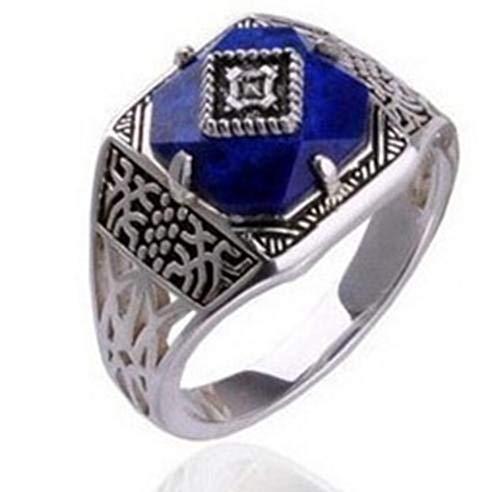 zzuus The Vampire Diaries Caroline Forbes Ring Daylight Amulet Engagement Wedding Costume (6) (Vampire Engagement Ring)
