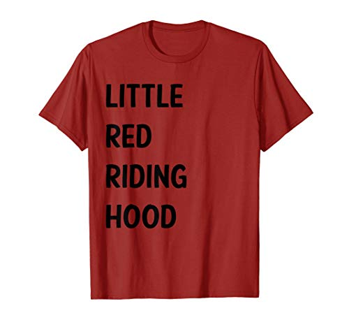 Little Red Riding Hood Halloween Costume Shirt for Couples
