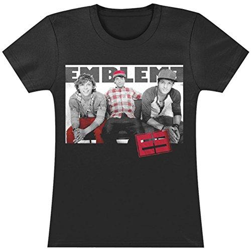 Emblem3 - Plain Photo Juniors T-Shirt - Small