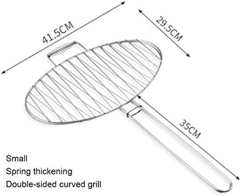 MISS YOU Clip grillagé pour Barbecue Barbecue Grill Maille de Treillis métallique en Acier Inoxydable Grille de Tempo Clip de légumes grillés (Taille : A)