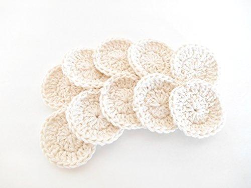 (Crochet Cotton Facial Rounds, Set of Ten)