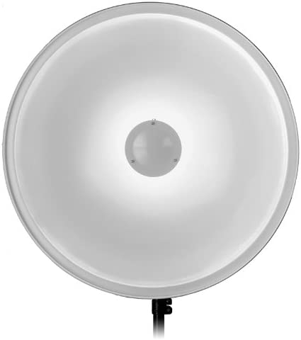 Fotodiox Pro 28in 70cm All Metal Beauty Dish with Novatron Insert Soft White Interior