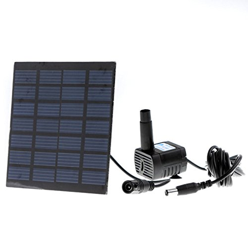 GigaMax(TM)Pool Water Garden Plants Watering Kit Solar Power Fountain Soar Pump/Water Pump (Flow Pump Pool Meter)