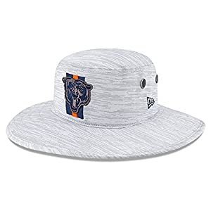 New-Era-Mens-Gray-Chicago-Bears-2021-NFL-Training-Camp-Official-Bear-Head-Logo-Panama-Bucket-Hat