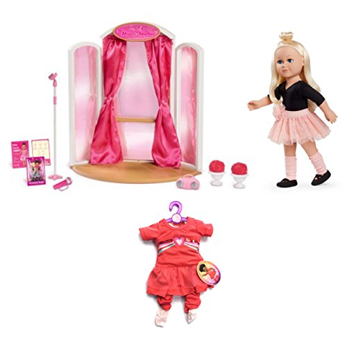 My Life As 18'' Ballerina and Ballet Studio with Practice Outfit Bundle by myLife Brand Products