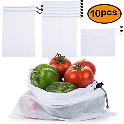 Home Storage & Organization 15pcsreusable Mesh Produce Bags Washable Eco Friendly Bags For Storage Fruit Vegetable Toys Organiz Rack Container Makeup Boxes Buy One Get One Free