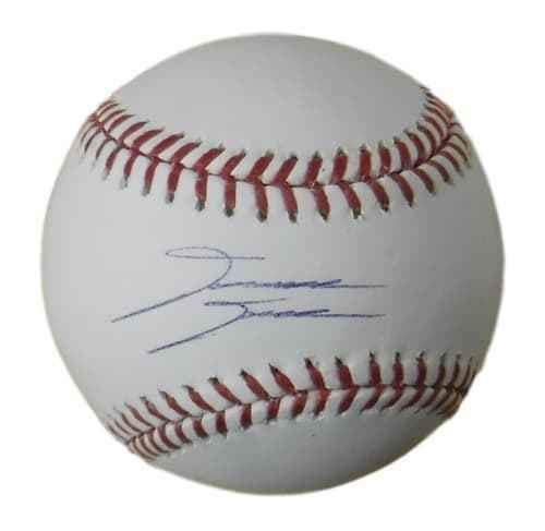 (David Dahl Autographed Colorado Rockies OML Baseball (Name Only) JSA)