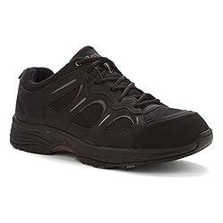 Propet Men's Connelly Walking Shoe, Gunsmoke/Orange, 8.5 3E US