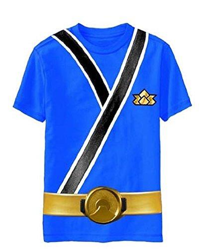 Power Rangers SAMURAI Ranger BLUE Uniform Monster Toddler T-shirt (Toddler Small 4T) ()