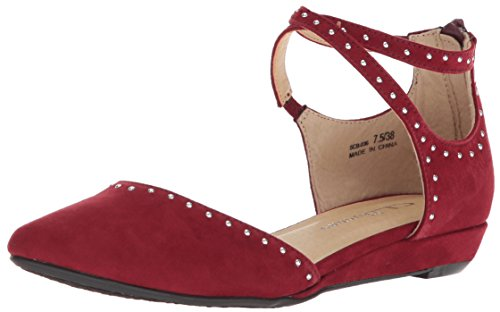 CL by Chinese Laundry Women's Smile Ballet Flat Cherry red Suede 7 M US