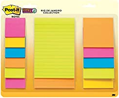 Post-it Super Sticky Notes, 13 Pads, Bright Colors Multipack (4623-13SSAU), 1 7/8 in x 1 7/8 in