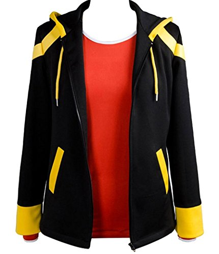 ZYHCOS Cosplay Costume Black Casual Jacket with Red Tshirt Suit (Womens-M) (Red Mystic Jacket)
