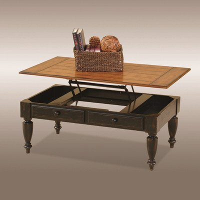 Progressive Furniture 44542-15 Country Vista Lift Top Cocktail Table, Antique Black and Oak