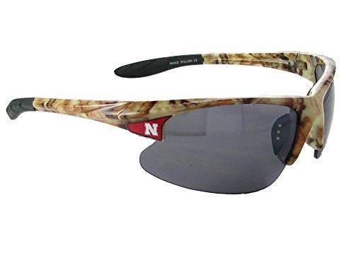 Nebraska Cornhuskers NU Camo Action NCAA Mens Sunglasses - Sunglasses Nebraska